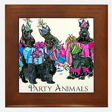 Scottish Terrier Party Animals Framed Tile