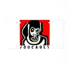 FOUCAULT philosophy Aluminum License Plate