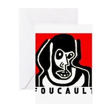 FOUCAULT philosophy Greeting Card