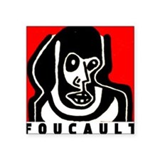 "FOUCAULT philosophy Square Sticker 3"" x 3"""
