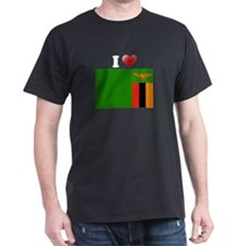 I love Zambia Flag T-Shirt