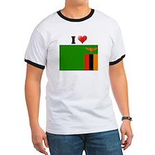 I love Zambia Flag T