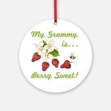 Berry Sweet Grammy Ornament (Round)