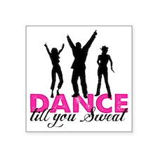"dancing Square Sticker 3"" x 3"""
