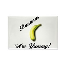 """Bananas Are Yummy!"" Rectangle Magnet"