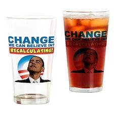 recalculating_shirt_cp_light3 Drinking Glass