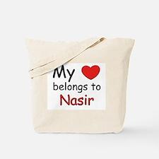 My heart belongs to nasir Tote Bag