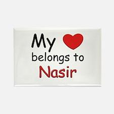 My heart belongs to nasir Rectangle Magnet