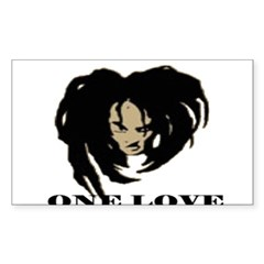 ONE LOVE Rectangle Decal