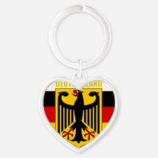 Germany COA 2 (B) Heart Keychain