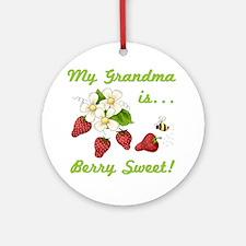 Berry Sweet Grandma Ornament (Round)