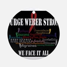 We Face It Ornament (Round)