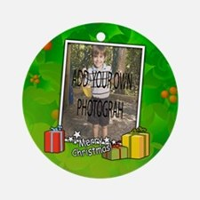 Personalized Christmas photo template Ornament (Ro