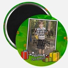 Personalized Christmas photo template Magnets