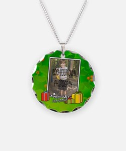 Personalized Christmas photo template Necklace