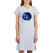 Bubble-Silver-BlueCrush-Tongue Women's Nightshirt