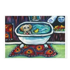 Yellow Labrador Happy Bath Postcards (Package of 8