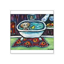 Yellow Labrador Happy Bath Sticker
