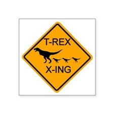 "rs_T-REX X-ING Square Sticker 3"" x 3"""