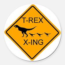 rs_T-REX X-ING Round Car Magnet