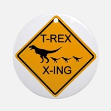 rs_T-REX X-ING Round Ornament