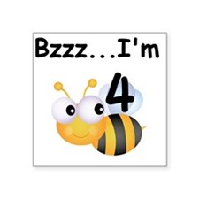 "BUMBLEBEE4 Square Sticker 3"" x 3"""