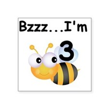 "BUMBLEBEE3 Square Sticker 3"" x 3"""