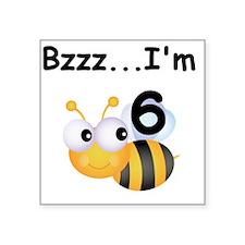 "BUMBLEBEEsix Square Sticker 3"" x 3"""