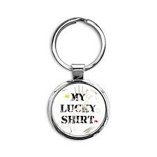 my_lucky_shirt Round Keychain