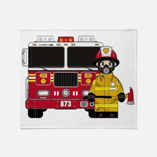 Fireman Pad5 Throw Blanket