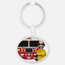 Fireman Pad5 Oval Keychain