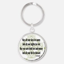 AllLifeBlessed Round Keychain