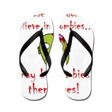 Zombie Themselves Red Flip Flops