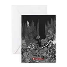 The Silence by Poe Greeting Card