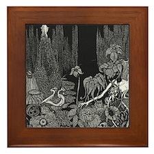 The Silence by Poe Framed Tile