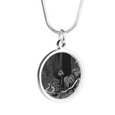 The Silence by Poe Silver Round Necklace