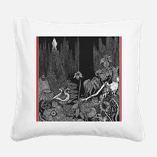 The Silence by Poe Square Canvas Pillow