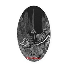The Silence by Poe Oval Car Magnet
