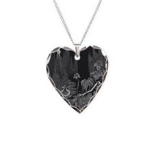The Silence by Poe Necklace Heart Charm