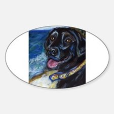 Happy Black Labrador Decal