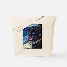 Happy Black Labrador Tote Bag