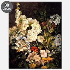 Boudin - Spray of Flowers-Hollyhocks Puzzle