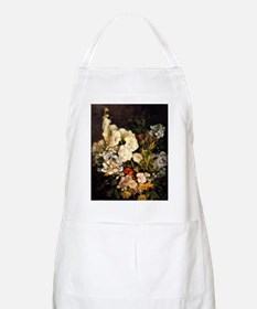 Boudin - Spray of Flowers-Hollyhocks Apron