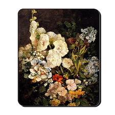 Boudin - Spray of Flowers-Hollyhocks Mousepad