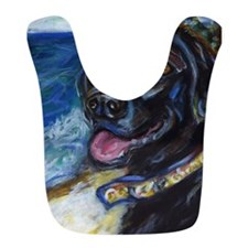Happy Black Labrador Bib
