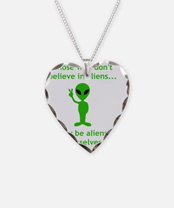 Aliens Themselves Green Necklace