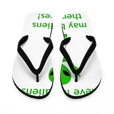 Aliens Themselves Green Flip Flops
