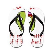 Zombie If When Red Flip Flops