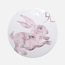 zodiac rabbit 2 Round Ornament