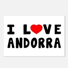I Love Andorra Postcards (Package of 8)